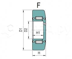 Ролик грузоподъёмника - Тип F