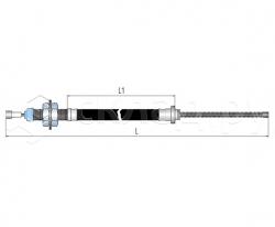 Трос стояночного тормоза - Тип 1