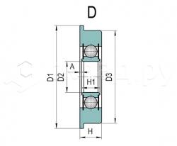 Ролик грузоподъёмника - Тип D