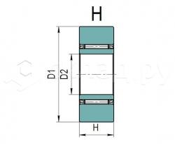 Ролик грузоподъёмника - Тип H