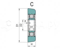 Ролик грузоподъёмника - Тип C