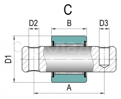 Боковой ролик каретки - Тип C