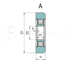Ролик грузоподъёмника - Тип A