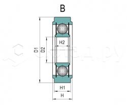 Ролик цепной - Тип B