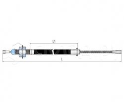 Трос стояночного тормоза - Тип 3