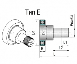 Боковой ролик каретки - Тип E