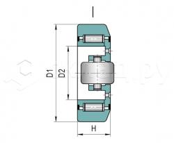 Ролик грузоподъёмника - Тип I