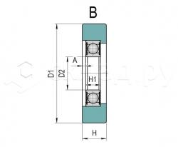 Ролик грузоподъёмника - Тип B