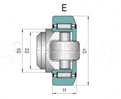 Ролик грузоподъёмника - Тип E