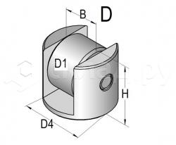 Боковой ролик каретки - Тип D